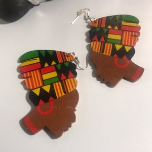 Ladies Afrocentric Dangle Earrings